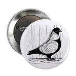 """Starling Pigeon Silver 2.25"""" Button"""