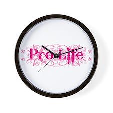 Pro-Life (pink) Wall Clock