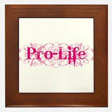 Pro-Life (pink) Framed Tile