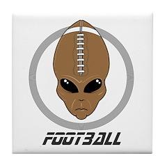 Alien Football Head Tile Coaster