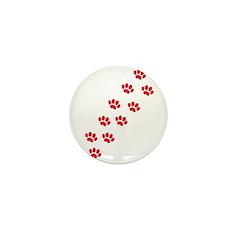 Paw Prints Mini Button (10 pack)