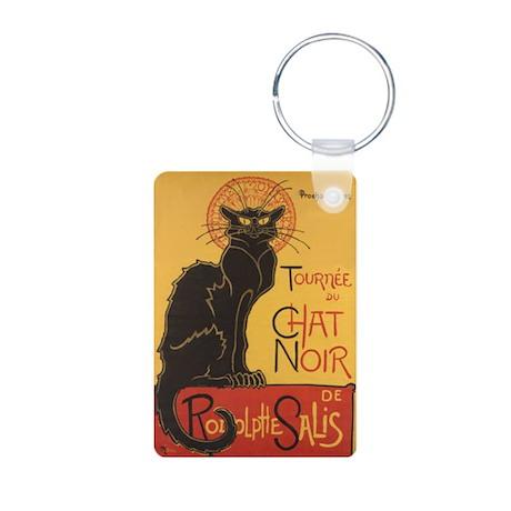 Le Chat Noir Aluminum Photo Keychain