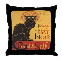 Le Chat Noir Throw Pillow