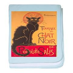 Le Chat Noir baby blanket