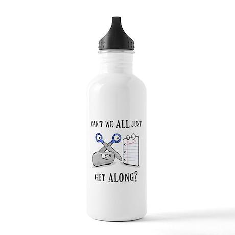 """""""Rock-Paper-Scissors"""" Stainless Water Bottle 1.0L"""