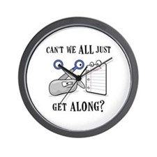 """Rock-Paper-Scissors"" Wall Clock"
