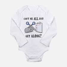"""Rock-Paper-Scissors"" Long Sleeve Infant Bodysuit"