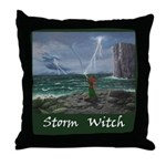 Storm witch Throw Pillow