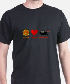 Funny Peace love cooking T-Shirt