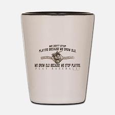 Ben Franklin Baseball Shot Glass