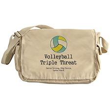 Volleyball Slogan Messenger Bag
