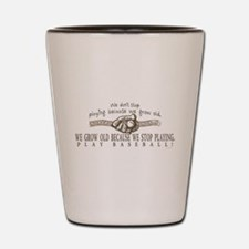 Ben Franklin Baseball Glove Shot Glass