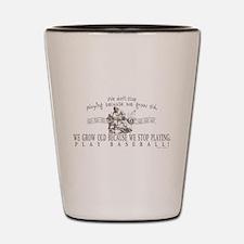 Ben Franklin Baseball Slugger Shot Glass