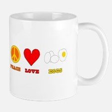 Peace Love Eggs Mug