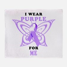 I Wear Purple for Me Throw Blanket