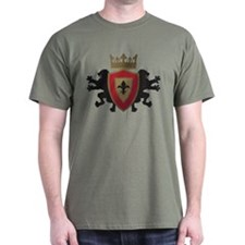 Red Medieval Lion Heraldry T-Shirt