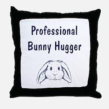 Bunny Hugger Throw Pillow