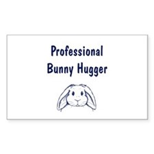 Bunny Hugger Rectangle Decal