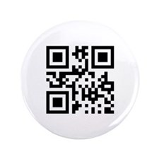 "QR Code Smiley Happy Face 3.5"" Button"