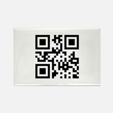 QR Code Smiley Happy Face Rectangle Magnet