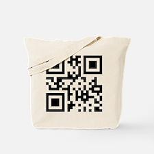 QR Code Smiley Happy Face Tote Bag