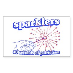 Sparklers Rectangle Decal