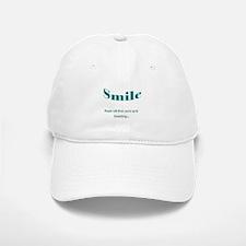 Smile....up to Something Baseball Baseball Cap