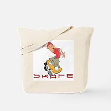Urban Skateboarder Tote Bag