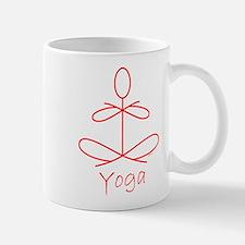Yoga in Red Mug
