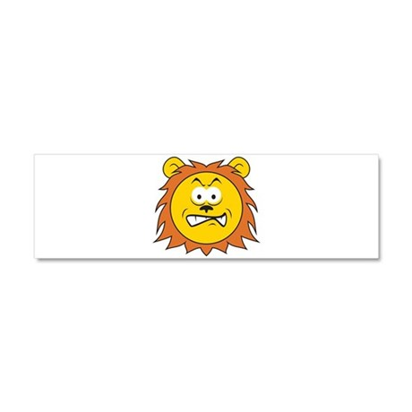 Lion Smiley Face Car Magnet 10 x 3 by dagerdesigns