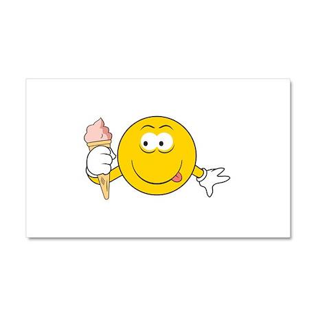 Ice Cream Cone Smiley Face Car Magnet 20 x 12