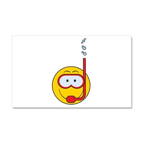 Snorkeling Smiley Face Car Magnet 20 x 12