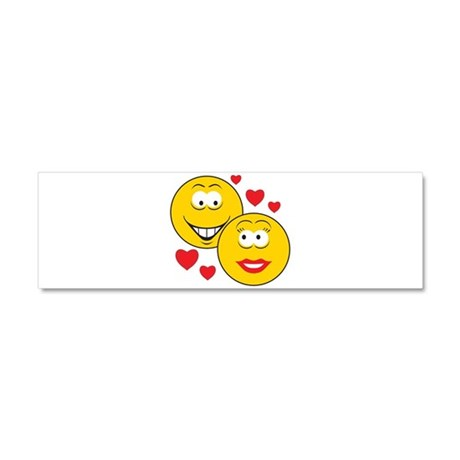 Smiley Faces in Love Car Magnet 10 x 3