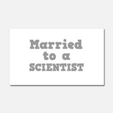 Married to a Scientist Car Magnet 20 x 12