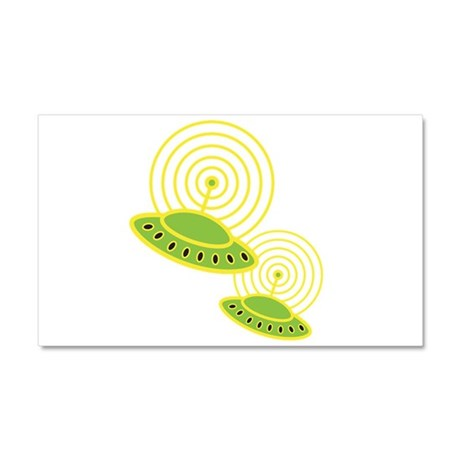 Retro Flying Saucers Car Magnet 20 x 12
