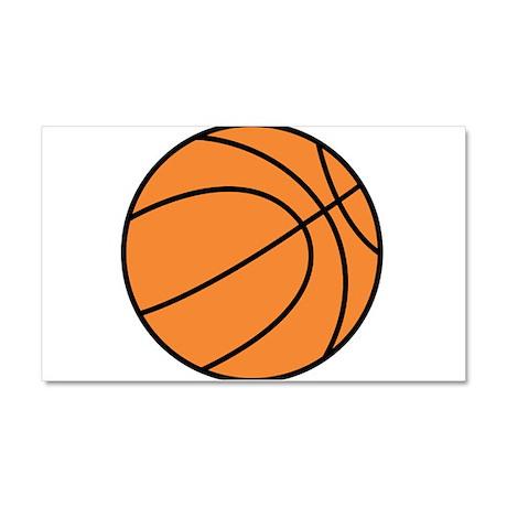Basketball Belly Car Magnet 20 x 12