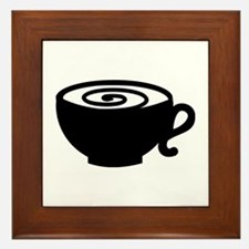 Coffee cup Framed Tile