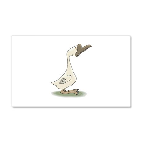 Silly White Goose Car Magnet 20 x 12