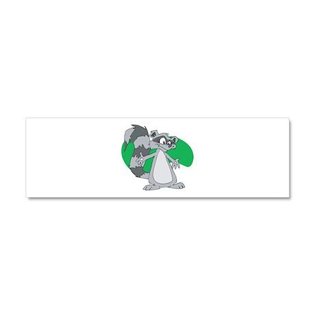 Cute Racoon Car Magnet 10 x 3