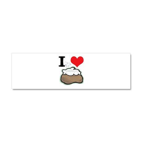 I Heart (Love) Baked Potatoes Car Magnet 10 x 3