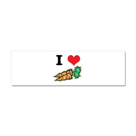 I Heart (Love) Carrots Car Magnet 10 x 3