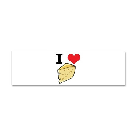 I Heart (Love) Cheese Car Magnet 10 x 3