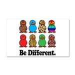 Be Different Ducks Car Magnet 20 x 12