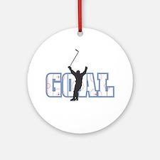 GOAL! Hockey Ornament (Round)