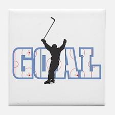 GOAL! Hockey Tile Coaster