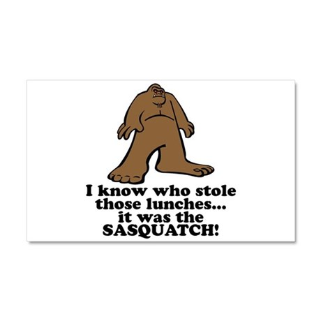 Sasquatch Stole the Lunches Car Magnet 20 x 12