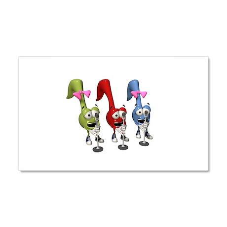 Singing (karoake) Music Notes Car Magnet 20 x 12