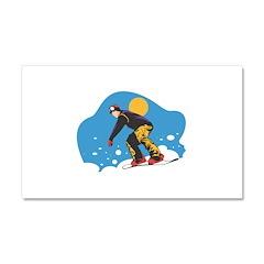 Snowboarding Design Car Magnet 20 x 12