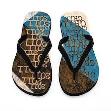 Funky Grad 2011 Grunge Flip Flops