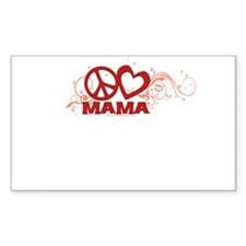 Peace Love Mom Swirls Decal